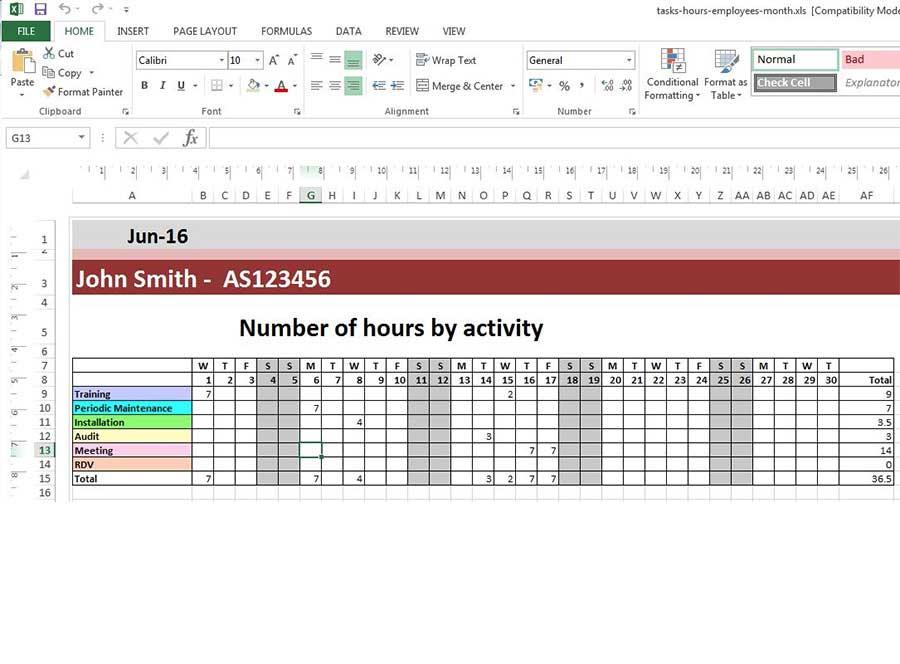 Erstellen Sie eine Planungsvorlage in Excel mit PlanningPME